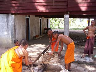 Monnikken aan het werk
