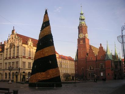 Het centrale plein van Wroclaw